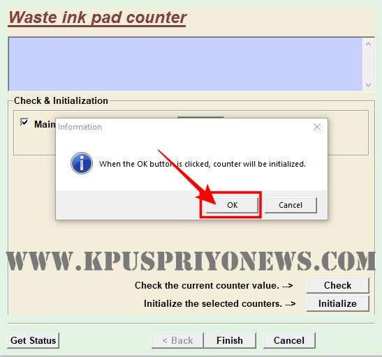 Click on OK button