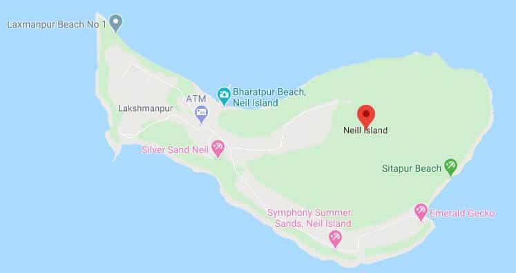Havelock Island - Neil Island map