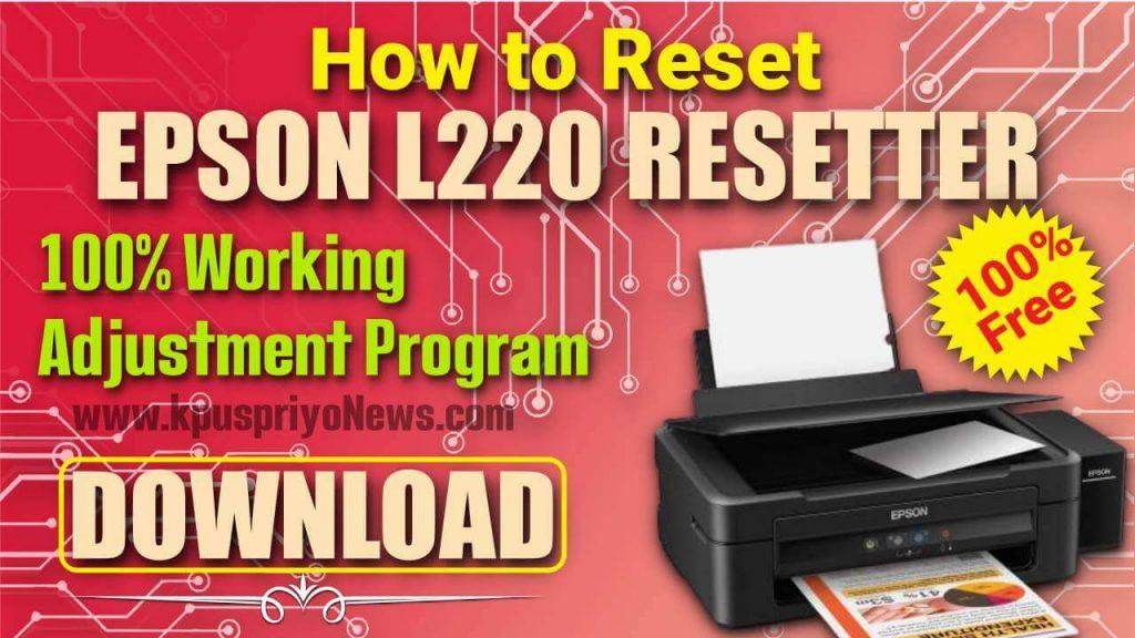 Epson L220 Resetter - Infographic