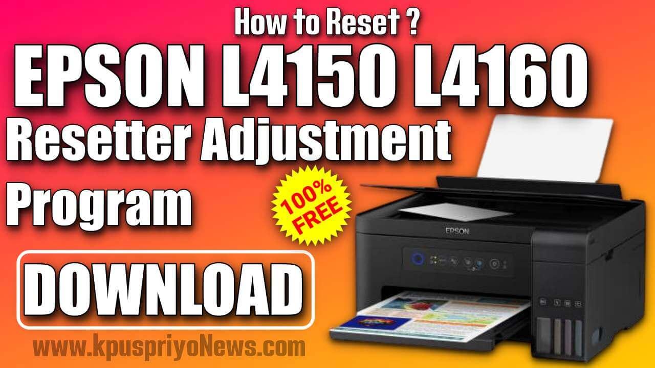Epson L4150 L4160 Resetter Adjustment Program Tool