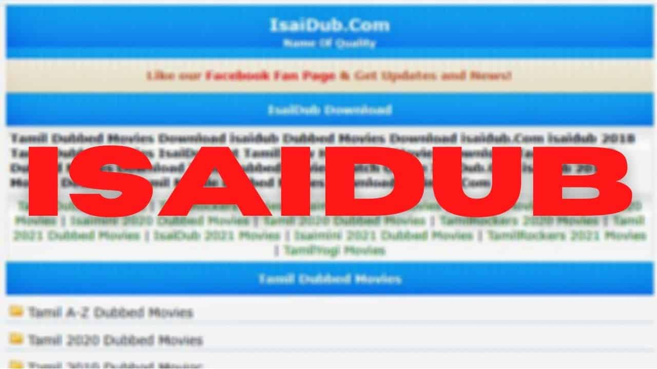 isaidub - Latest HD Movide Download